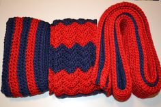 All Things Bright and Beautiful: 3 Crochet Scarves Fresno State colors!