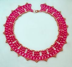 Free pattern for necklace Salma Click on link to get pattern - http://beadsmagic.com/?p=4734