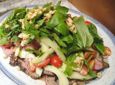 Cook the Book: Thai Beef Salad. Totally yummy.  Quick and easy. Child friendly (leave out chilli).