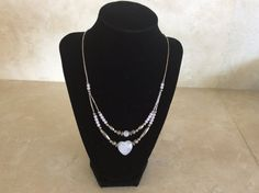 Beautiful Liquid Silver and Heart Shaped Rose Quartz by TillyFritz