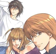 L, Light and Misa<<< I want to murder Light and Misa. I'm repinning for L.<---All of this person's pins of Death Note say something similar to this...