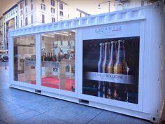 Il nostro Temporary Shop Container in Largo La Foppa a Milano