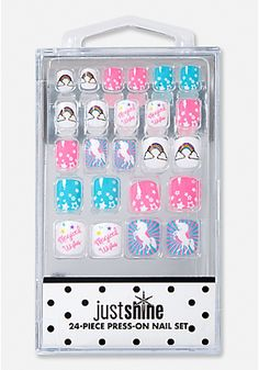 Just Shine Glitter Unicorn Press-On Nails