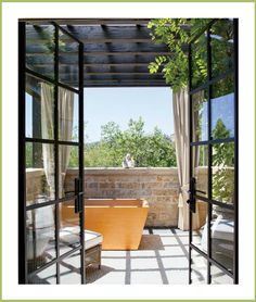 #telas #cortinas en la #terraza