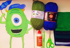 New project  Mike wazowshi  Monsters inc  New toy is coming soon  #heendmade #artist #designer #crafter #art #artwork #desgins #new #crafts #toys #handmaded #amigurumi #felt #glue #yarns #needles #mikewazowski #monstersinc #hendmadegallery by heendmade