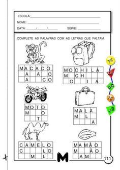 atividades silábicas com letra M complete as palavras