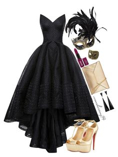"""""""Halloween 2k15"""" by avonsblessing94 ❤ liked on Polyvore featuring Zac Posen, Masquerade and Christian Louboutin"""