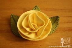 Handmade-courses, templates, tutorials: Brooches with felt-many models