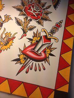 tattoosbycaleb:  More tattoo flash I made