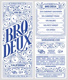 Bro.Deux Wine on Behance