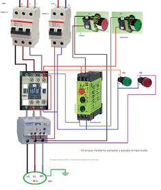 Esquemas eléctricos: arramque mediante pulsador parada temporizada