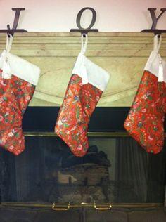 Cover Dollar Store Stockings in beautiful William Morris fabric