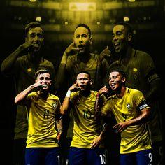 Philippe Coutinho, Neymar & Gabriel Jesus  & Brazil