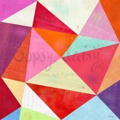 Pretty Pink Prisms Canvas Wall Art