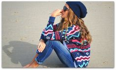 Love the sweater and jeans