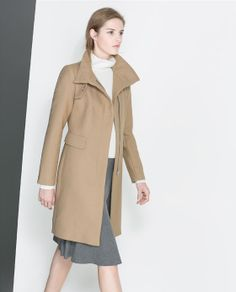 Image 2 of COAT WITH BUCKLE COLLAR from Zara