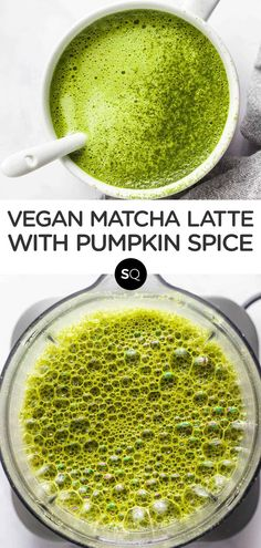 This vegan pumpkin spice matcha latte is the perfect warm beverage recipe to start your day with. Skip the coffee and try this energizing, healthy drink instead! Naturally sweetened with maple syrup and made in the blender. Pumpkin Spice Syrup, Vegan Pumpkin, Ice Cream Smoothie, Healthy Drinks, Healthy Food, Maple Syrup, Matcha, Beverage, Latte