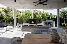 Fireplace Designs, Inspirations & Tips | Escea Journal Wood Fireplace, Fireplace Design, Beefeater Bbq, Installing A Fireplace, Construction Firm, Apartment Office, Outdoor Dining, Outdoor Decor, 5 Bedroom House
