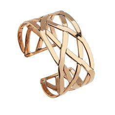 Copper Flat Woven Cuff Bracelet