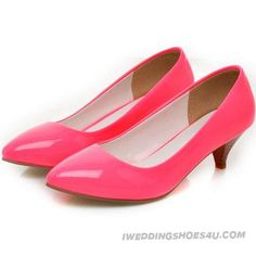 Candy Color Wedding Shoes #comfortable