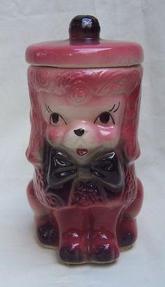 Vintage Pink Poodle Cookie Jar
