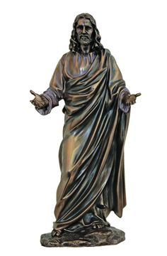 Welcoming Christ statue finely crafted with attention to detail. Jesus statue depicts Jesus arms open as to greet us. The welcoming Jesus statue is a wonderful gift for any Christian or Catholic perso Religious Gifts, Religious Art, Jesus Christ Statue, Cemetery Decorations, Tattoo T Shirts, Open Arms, Garden Statues, Inspirational Gifts, Sculptures