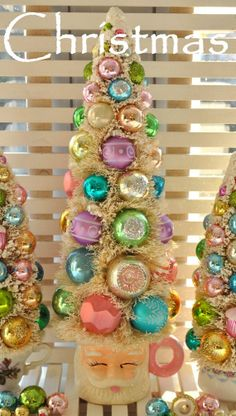DIY:: Bottle Brush Tree And Baubles Idea !!