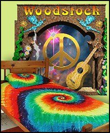 Rainbow Tie Dye Duvet Hippie Style Bedroom Decorating   Tie Dye Bedding   6