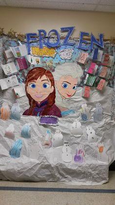 Frozen Bulletin board drawing