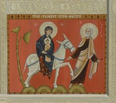 Flight into Egypt (detail of Altar Panel), 2013 Byzantine Icons, Byzantine Art, Religious Icons, Religious Art, Church Icon, Mary And Jesus, Art Icon, Holy Family, Orthodox Icons