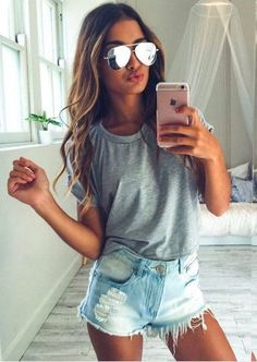 a2f9888b005b 94 Best Cute outfits with shorts images | Casual outfits, Casual ...