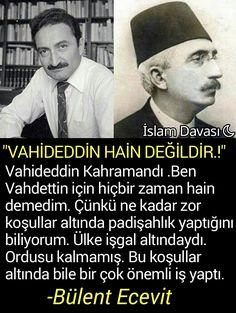 Bülent Ecevit, Sultan Vahideddin hakkında..