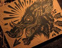Animal Block Prints by Derrick Castle