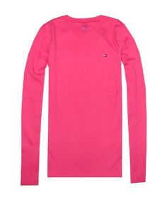 Tommy Hilfiger Women Long Sleeve Crewneck Logo T-shirt « Clothing Adds Anytime