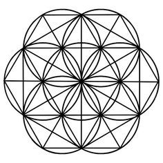 5x8.5 Seed of Life Black Crystal Grid Template, Metatron's Cube ...