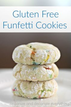 This is my go-to Gluten Free Funfetti Cookie recipe. It's so soft and chewy you would never know it was gluten free.