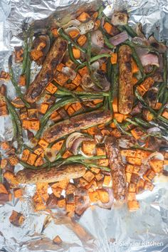 Sausage, Sweet Potatoes, and Green Beans