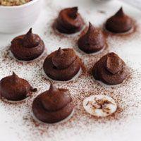 Trufas de chocolate con sal