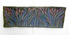 Textile Art Wallhanging The Garden by TexturesGallery on Etsy, $225.00