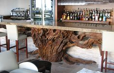 Gorgeous bar made from driftwood by Ryan Matchett Design House