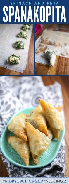 Dinner and a movie! My Big, Fat Greek Wedding 2 comes out on March Celebrate with this flaky, buttery, garlicky Spinach and Feta Spanakopita! on Digital HD and Blu-ray & DVD Empanadas, Dim Sum, Comida Judaica, Spanakopita Recipe, Greek Dinners, Spinach And Feta, Spinach Pie, My Burger, Tapas