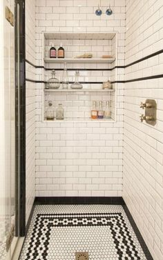 I like this niche but it's on the large size... #bathroomshowerstall #masterbathroomtoilet