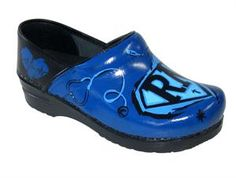 super nurse hand-painted Sanita clogs.... $149.95, these will be on my xmas list :)