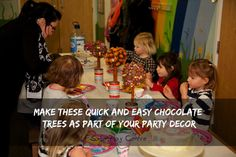 Make quick and easy chocolate tree decor, double up as treats too!