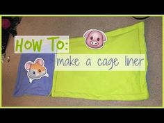 DIY Tutorial: How To Make A Fleece Cage Liner For Your Small Pet's Cage