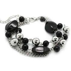 Debs Jewelry Shop - Paparazzi Bracelet - Black Oval Beads, $5.00 (http://www.debsjewelryshop.com/paparazzi-bracelet-black-oval-beads/)