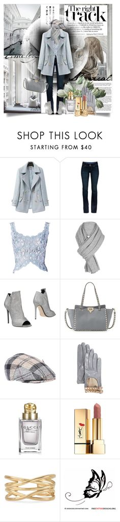 """~Winter Hues~"" by celiac2014 ❤ liked on Polyvore featuring Chicnova Fashion, Paige Denim, White + Warren, Grey Mer, Valentino, Barbour, Gucci and Stella & Dot"