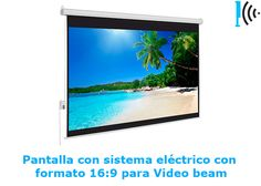 Mira Pantallas con formato 16:9 de vídeo beam en nuestro portafolio en linea:  http://telonescolombia.com/Catalogo-de-pantallas-de-proyeccion-para-video-beam-Telones-Colombia.html