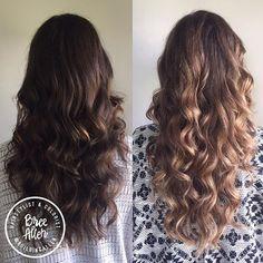 Before & After brown hair balayage #breeallenhair