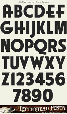 Letterhead Fonts / LHF American Sans font set / Condensed Sans Serif